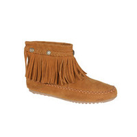 Refresh by Beston Women?s 'Mini-01' Chestnut Fringe Ankle Booties | Overstock.com