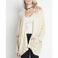 Dreamers - In the Office Ribbed Open Front Knit Cardigan in More Colors
