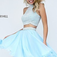 Two Piece Short High Neck Prom Dress by Sherri Hill