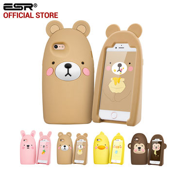 ESR Cute Cartoon soft silicone Kickstand Protective Case Cover for 4.7 inches for iPhone 6/6s
