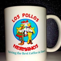 "Breaking Bad Los Pollos Hermanos ""Serving The Best Coffee In Town"" Coffee Mug"