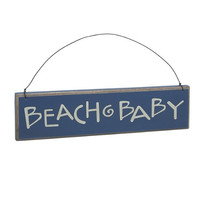 """Beach Baby"" - Decorative Wood Sign"