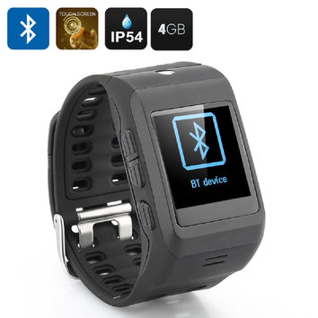 1.44 Inch Smart Watch - Bluetooth, Camera, Touch Screen, Pedometer, Phone Book Sync, Call ID, Phone Dialer