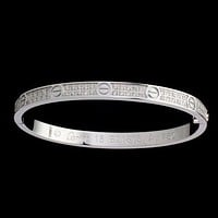 Cartier Woman Fashion LOVE Diamond Plated Bracelet Jewelry