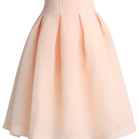 The Lithe Dance Tulle Skirt Beige