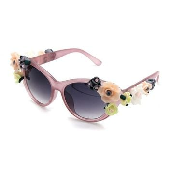 Baby Accessories 3 D Flower Sunglasses With UV 400 Protection
