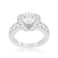 Tension Set Engagement Ring, size : 10