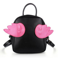 Women Harajuku Style Sweet Wings Backpack School Bag