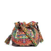Star Mela Myla Embroidered X-Body Duffle Bag