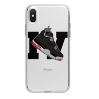 LARGE JORDAN 4 RETRO SHOE EMOJI CUSTOM IPHONE CASE