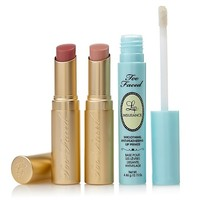 Too Faced Stay All Day 3-piece La Crème and Lip Insurance Set at HSN.com