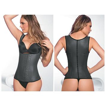 Ann Chery 2027 Latex Girdle Body Shaper Color Black