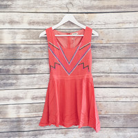 Arianna Studded Dress (Coral)