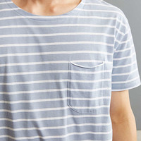 Nautical Stripe Long Loose Scoopneck Tee | Urban Outfitters
