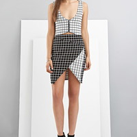 FoxieDox Grid-Patterned Origami Skirt