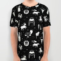 Strange Fortunes: Midnight All Over Print Shirt by LordofMasks | Society6