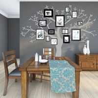 Christmas Gift Personalized Family Tree - Modern Family Tree Wall Decal Sticker Tree Branch Leaves Leaf Wall Art Home Decor Living Room