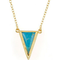 Anna Beck || Turquoise Small Triangle Necklace