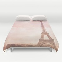 Paris in Pink Duvet Cover by Legends of Darkness Photography
