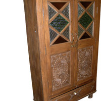 India Cabinet Carvings Antique Wooden Armoire Beautiful hand made armoire full of carvings