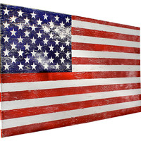 Rustic American Flag Wall Decor, Large, Signs