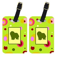 Pair of 2 Chow Chow Luggage Tags