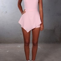 Run The Night Playsuit Pink - Womens