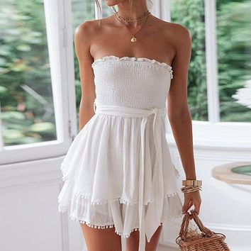 Camilla White Tassel Dress