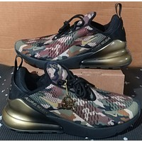 Nike Air Max 270 camouflage summer mesh breathable running shoes