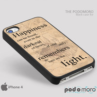 Harry Potter Happy Quote Case for iPhone 4/4S, iPhone 5/5S, iPhone 5c, iPhone 6, iPhone 6 Plus, iPod 4, iPod 5, Samsung Galaxy S3, Galaxy S4, Galaxy S5, Galaxy S6, Samsung Galaxy Note 3, Galaxy Note 4, Phone Case