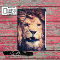Lion Snarl Teeth Growl Safari Animal Cat Fur Tumblr Inspired Custom iPad Mini, iPad 2/3/4 and iPad Air Case Cover