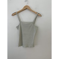 Vintage Pale Green Ribbed Tank