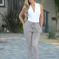Easy Breezy Jogger - Grey Mocha