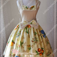 Sweet Cotten Magic Tea Party JSK Floral Flower Print Lolita Dress