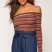 Shauna Stripe Off Shoulder Top