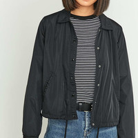 BDG Cropped Black Coach Jacket - Urban Outfitters
