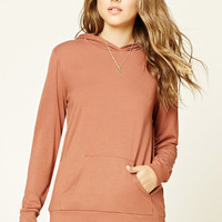 Knit Hooded Pullover