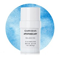 Balancing Cleansing Balm Stick by Curious Apothecary. Naturally refreshing. Made with coconut oil.