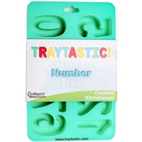 "Silicone Number Trays Mold by Traytastic! - Large 1.75"" Tall Numbers"