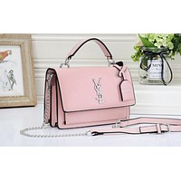YSL fashion hot selling lady casual solid color clamshell shopping shoulder bag #5