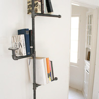 Industrial Pipe Bookshelf without Oil Candle by DirtyBils on Etsy
