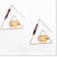 Illuminati Earrings (Gold + Silver)