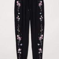 H&M Pull-on Pants with Embroidery $29.99