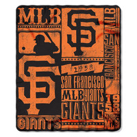 San Francisco Giants MLB Light Weight Fleece Blanket (Strength Series) (50inx60in)