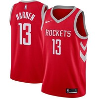 James Harden Houston Rockets # 13 Nike Red Swingman Icon Edition Jersey - Best Deal Online