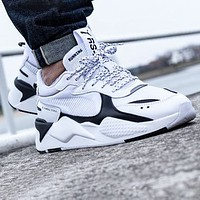 PUMA RS-X Reinvention Fashion Women Men Sport Running Shoes Sneakers White&Black