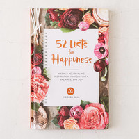 52 Lists For Happiness: Weekly Journaling Inspiration For Positivity, Balance, And Joy By Moorea Seal | Urban Outfitters