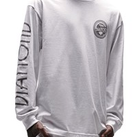 Diamond Supply Co White Out Pack Circle Long Sleeve T-Shirt - Mens Tee - White