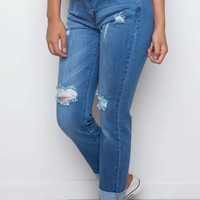 All I Want Distressed Boyfriend Jeans
