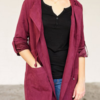 Close to Perfection Jacket -Plum